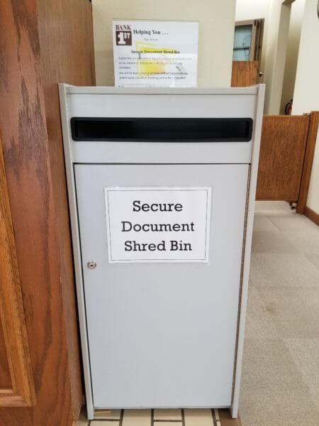 Secure Document Shred Bin